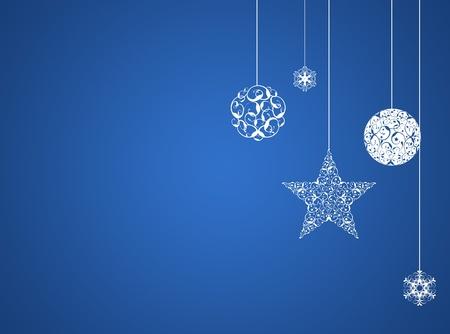 ブルー クリスマス新年の背景