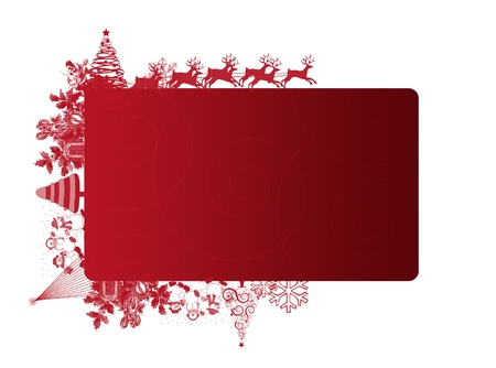 text area: Red Christmas frame with text area on white background