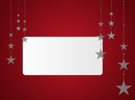 text area: Red Christmas background with white text area Stock Photo