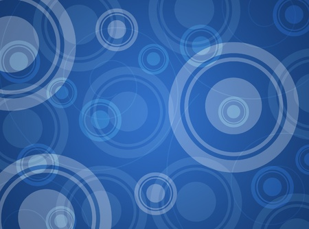 Blue abstract background with circles