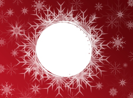 Red Christmas, New Year frame Stock Photo