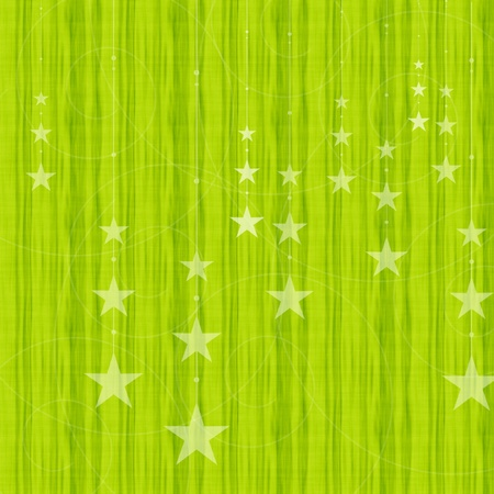 Green christmas winter background with stars photo