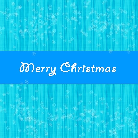 Blue christmas winter abstract background with snowflakes