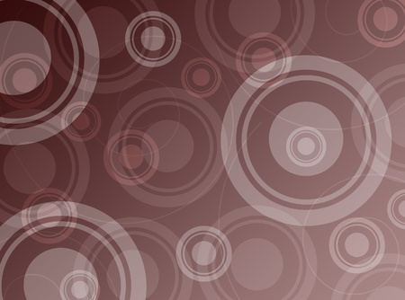 Brown abstract background with circles