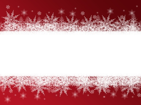 Red Christmas, New Year frame Stock Photo - 8290434