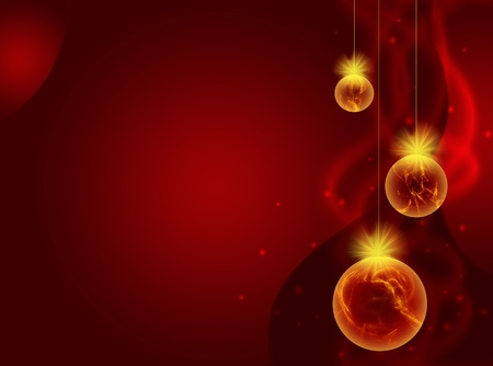 クリスマス ボールと新年の背景