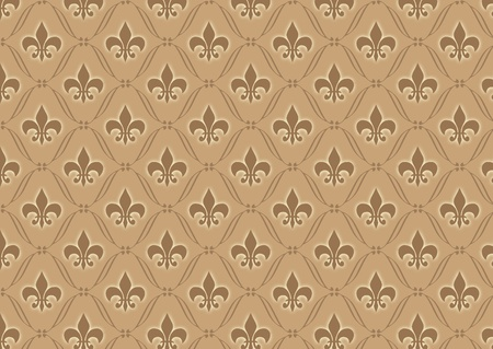 Brown damask wallpaper pattern Stock Photo - 8290461