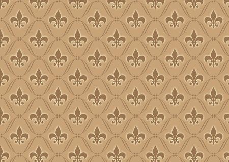 Brown damask wallpaper pattern photo