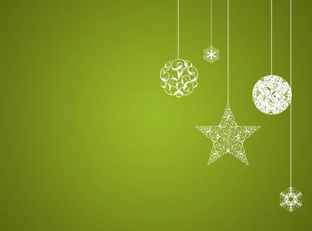 緑のクリスマス新年の背景 写真素材