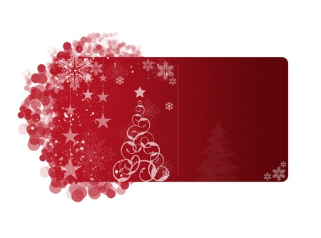 Red Christmas frame on white background Stock Photo