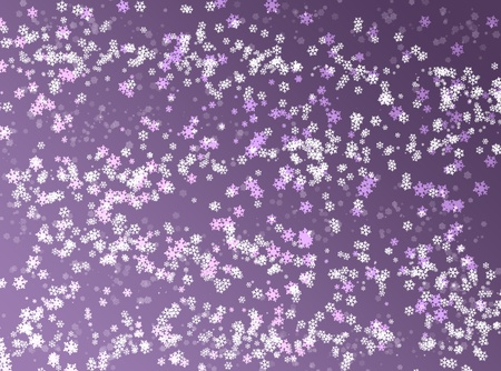 Purple christmas winter background with snowflakes Stock Photo - 8290459