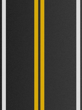 road texture: Doppie linee gialle sulla trama di asfalto