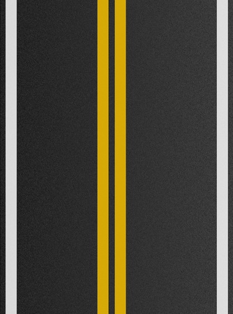 tarmac: Double yellow lines on asphalt texture  Stock Photo