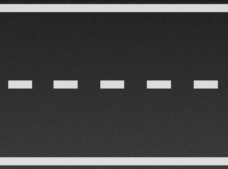 アスファルトの質感に白い線 写真素材