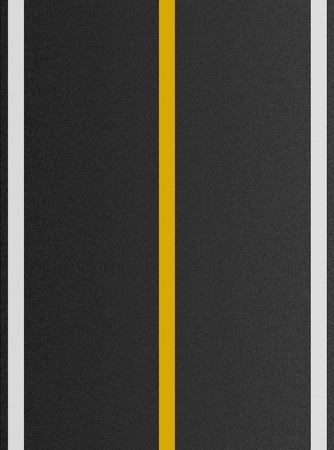 double lane: white and yellow lines on asphalt texture  Stock Photo