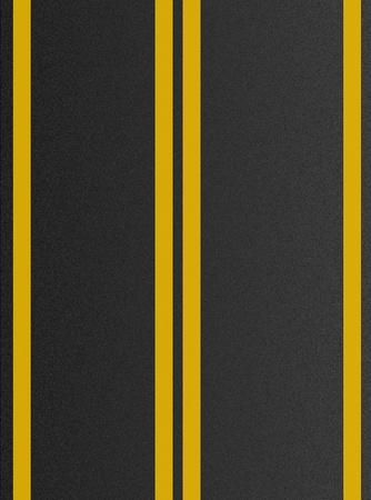 double lane: Double yellow lines on asphalt texture  Stock Photo