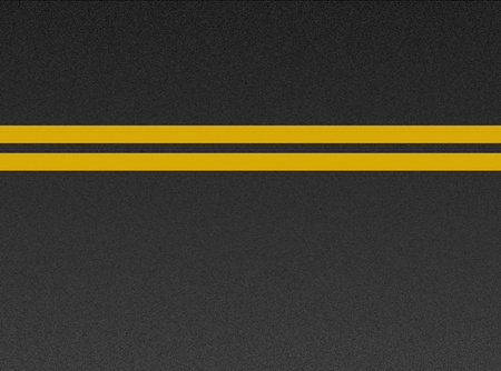 Double yellow lines on asphalt texture  Stock Photo - 8433082