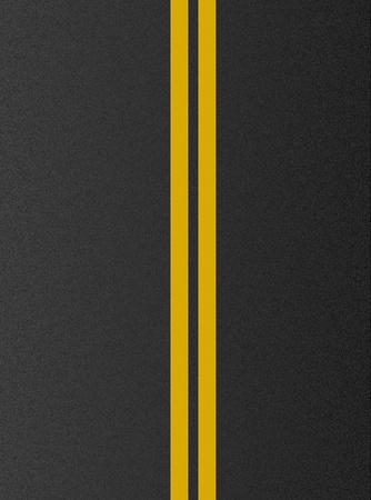 solid line: Double yellow lines on asphalt texture  Stock Photo
