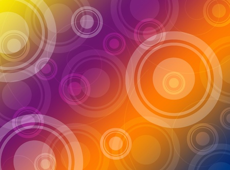 Multicolored abstract background with circles