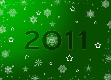 Green Christmas, New Year background
