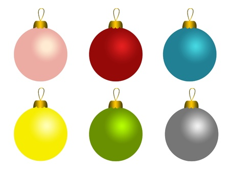 Set of christmas balls Stock Photo