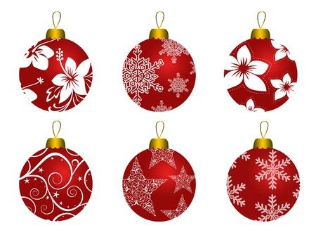 クリスマス ボールのセット 写真素材