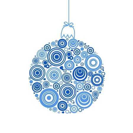 White christmas ball on white background Stock Photo