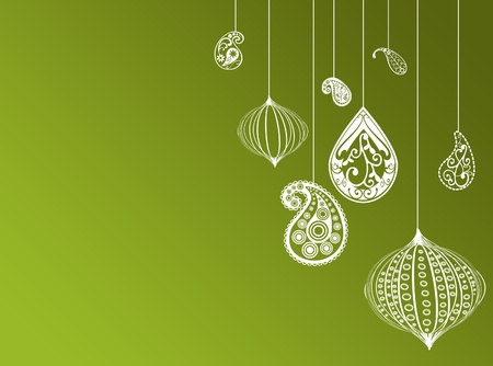persian green: Green christmas new year background