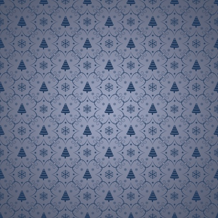 Winter christmas seamless background Stock Photo