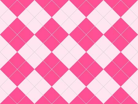 ひし形でピンクのシームレスなアーガイル柄