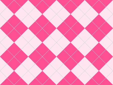Seamless argyle pattern in pink rhombuses