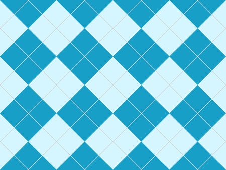 Seamless argyle pattern in blue rhombuses photo
