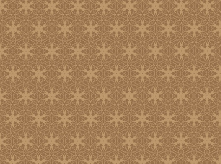 wallpape: Brown damask seamless wallpape pattern Stock Photo