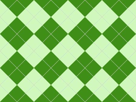 緑色のひし形でシームレスなアーガイル柄 写真素材