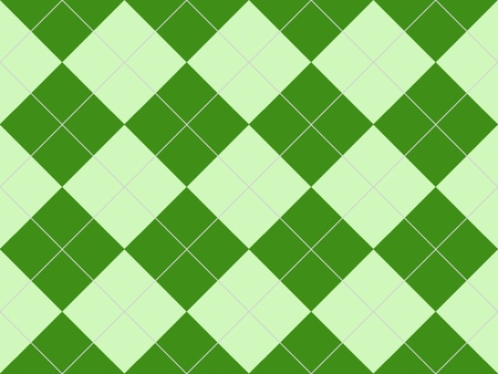 Seamless argyle pattern with green rhombuses