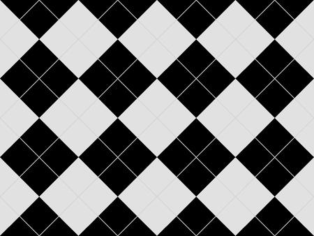 黒と白のひし形とシームレスなアーガイル柄