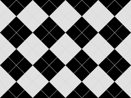 Seamless argyle pattern with black and white rhombuses