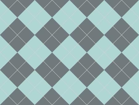 灰色および青のひし形とシームレスなアーガイル柄 写真素材