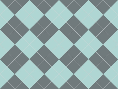 Seamless argyle pattern with grey and blue rhombuses photo