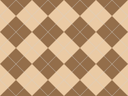 Seamless argyle pattern with brown rhombuses Stock Photo