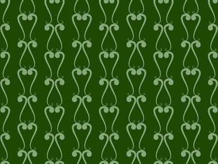 Green damask seamless wallpaper pattern Stock Photo - 8797796