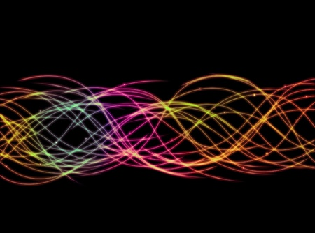 Flowing multicolored electric light background.
