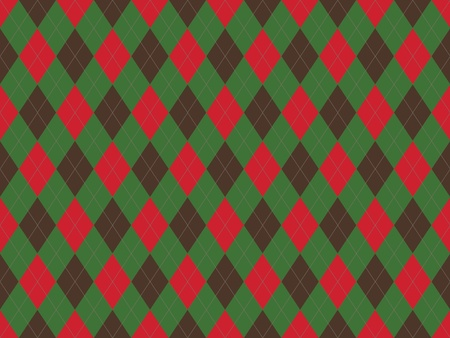 Christmas seamless argyle pattern in green and red rhombuses Stock Photo - 8802027