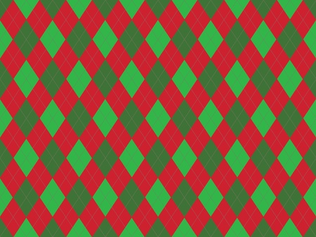 Christmas seamless argyle pattern in green and red rhombuses photo