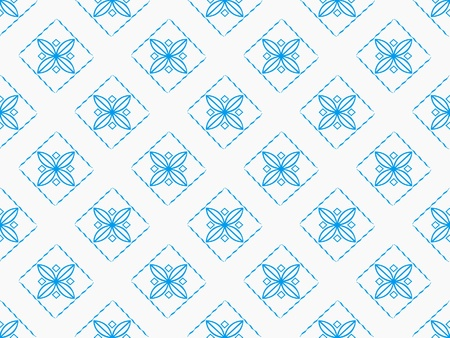 White and blue damask seamless wallpaper pattern