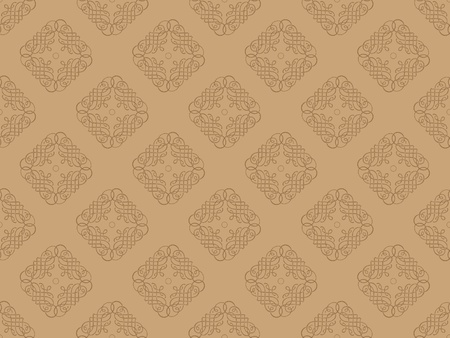 Brown damask seamless wallpaper pattern