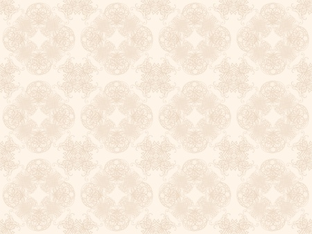 Beige damask seamless wallpaper pattern Stock Photo - 8802092