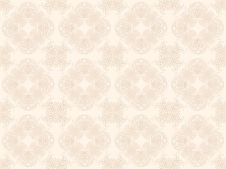 Beige damask seamless wallpaper pattern Stock Photo - 8802092