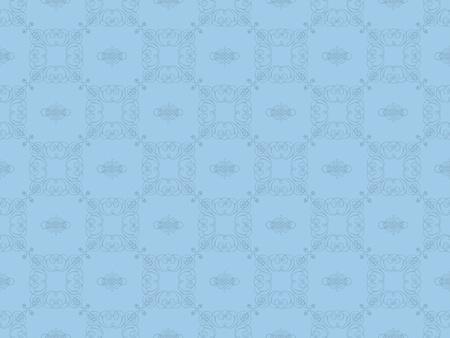 Blue damask seamless wallpaper pattern Stock Photo - 8802097