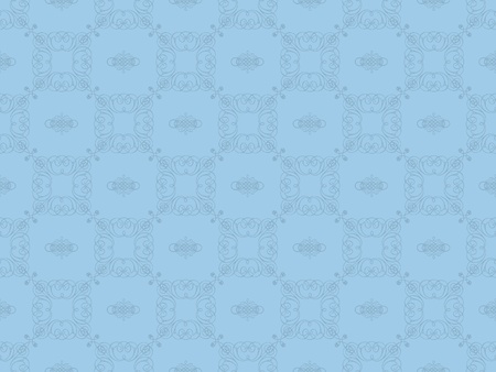 Blue damask seamless wallpaper pattern Stock Photo - 8802097
